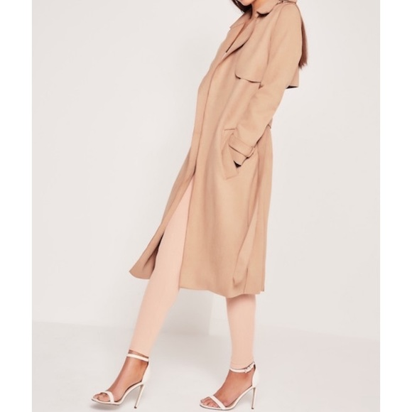 8dfd72906f9 Forever 21 Faux Suede Trench Coat in Nude 🧥